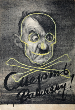 Let's Defeat Fascism! (Poster), 1942, Compressed charcoal, gouache on paper, 83.3×58.5cm
