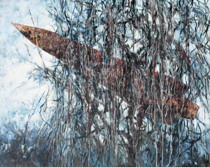 Arrow-Root Vine, 2015, Oil on canvas, 130x162cm