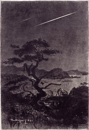 Nakhodka Bay at Night, 1962, Etching, 64.5×44cm