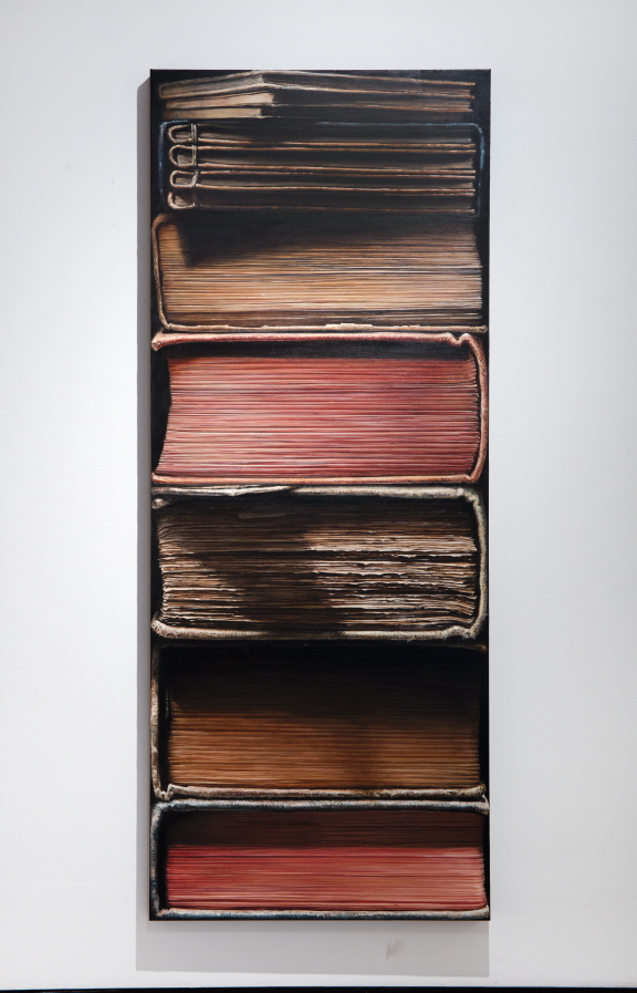 Hardbacks, 2012, Oil on canvas, 200x80cm