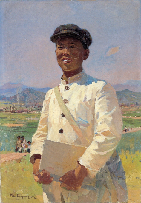 Korean Student, 1953, Oil on canvas, 63.5×43.5cm