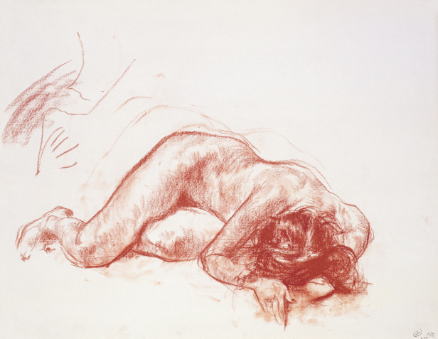Nude Model No. 8, 1983, Chalk on paper, 49×63.5cm