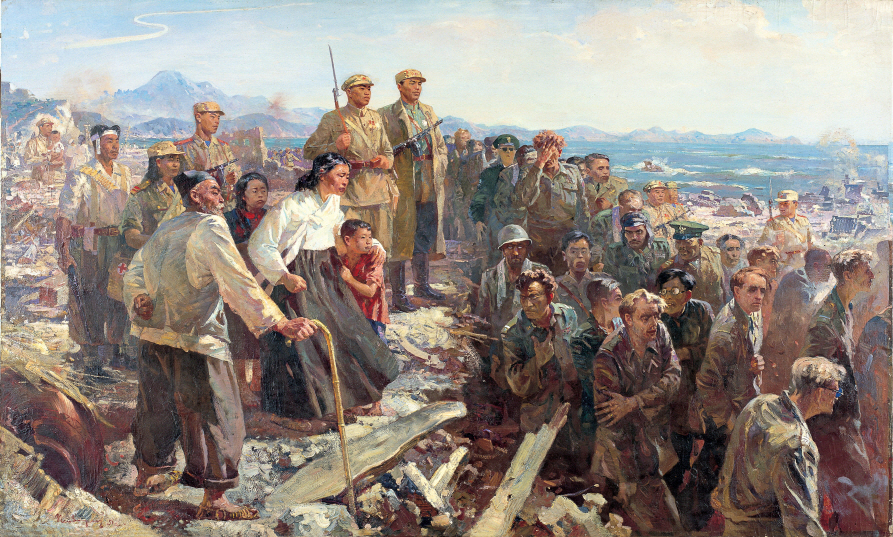 In North Korea, 1951-1955, Oil on canvas, 150×250cm