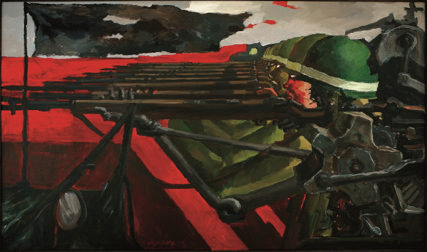 Genocide, 1992, Acrylic on canvas, 97x162cm