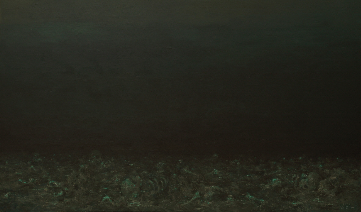 The Deep, Deep Ocean, 2015, Acrylic on canvas, 197x333.3cm