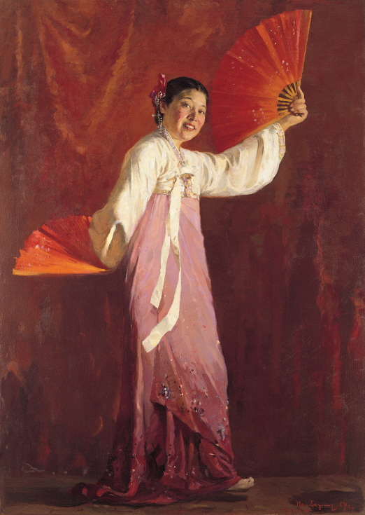 Portrait of the Dancer Choi Seunghee, 1954, Oil on canvas, 118×84cm