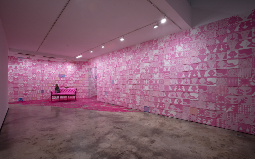 Pink Room V, Mixed media, Variable size