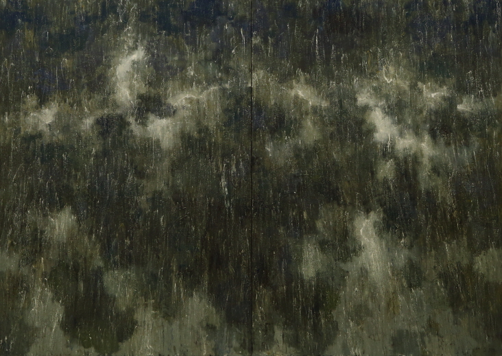 Thunder-Shower, 2017, Acrylic on canvas, 259.5×364cm
