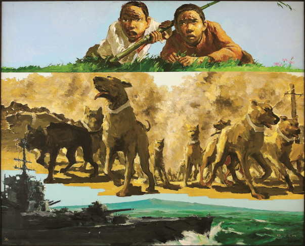 The Boys on the Watch, 1992, Acrylic on canvas, 130.3x162.1cm