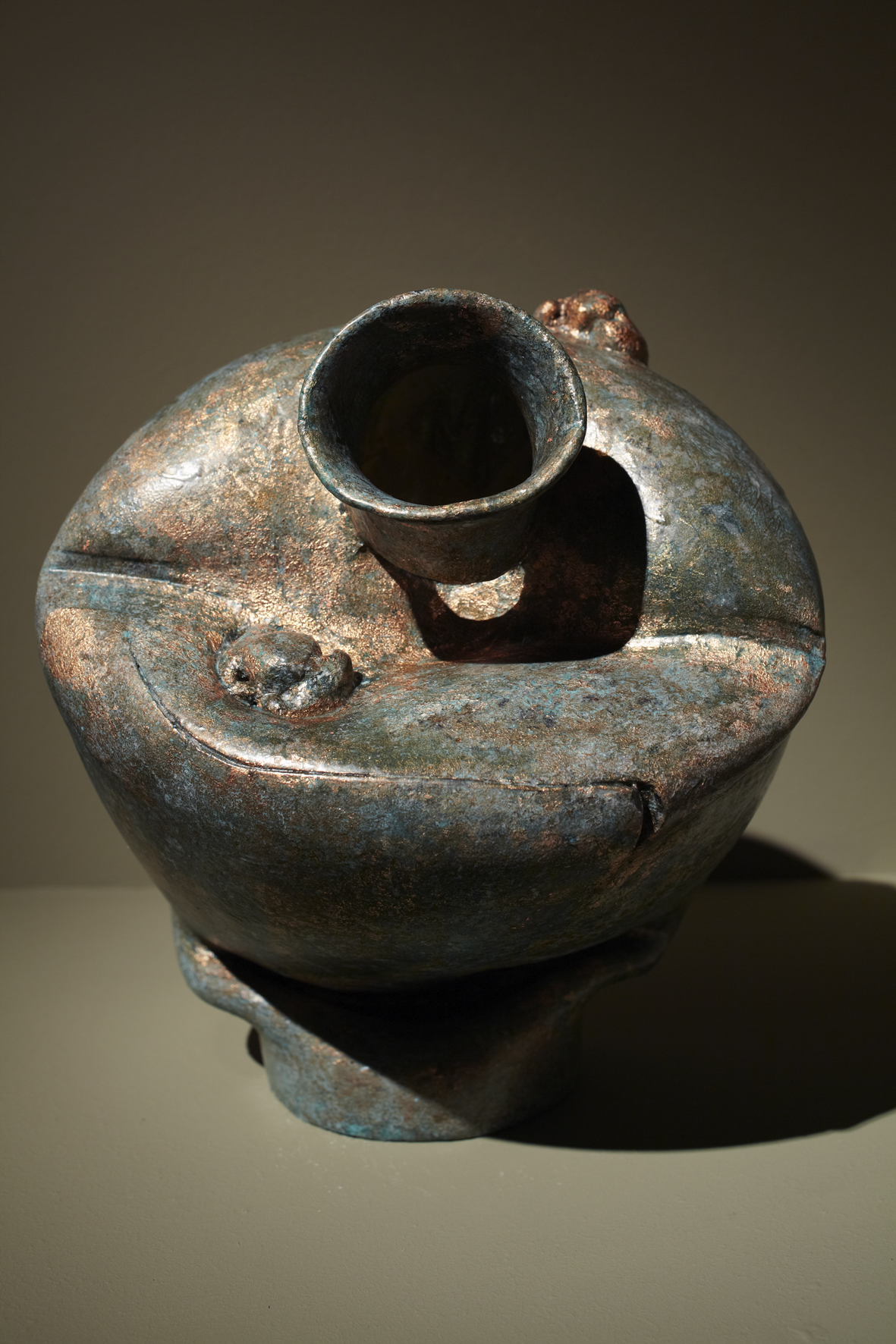 Translation-Bronze Vase, 2009, Soap, copper leaf, fragrance, 20x20x37cm