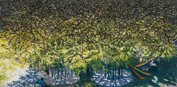 The Wisteria, 2015, Oil on canvas, 25x50cm