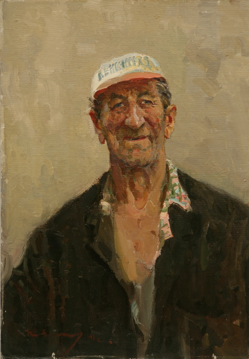 The Stoker, 1975, Oil on canvas panel, 70×50cm