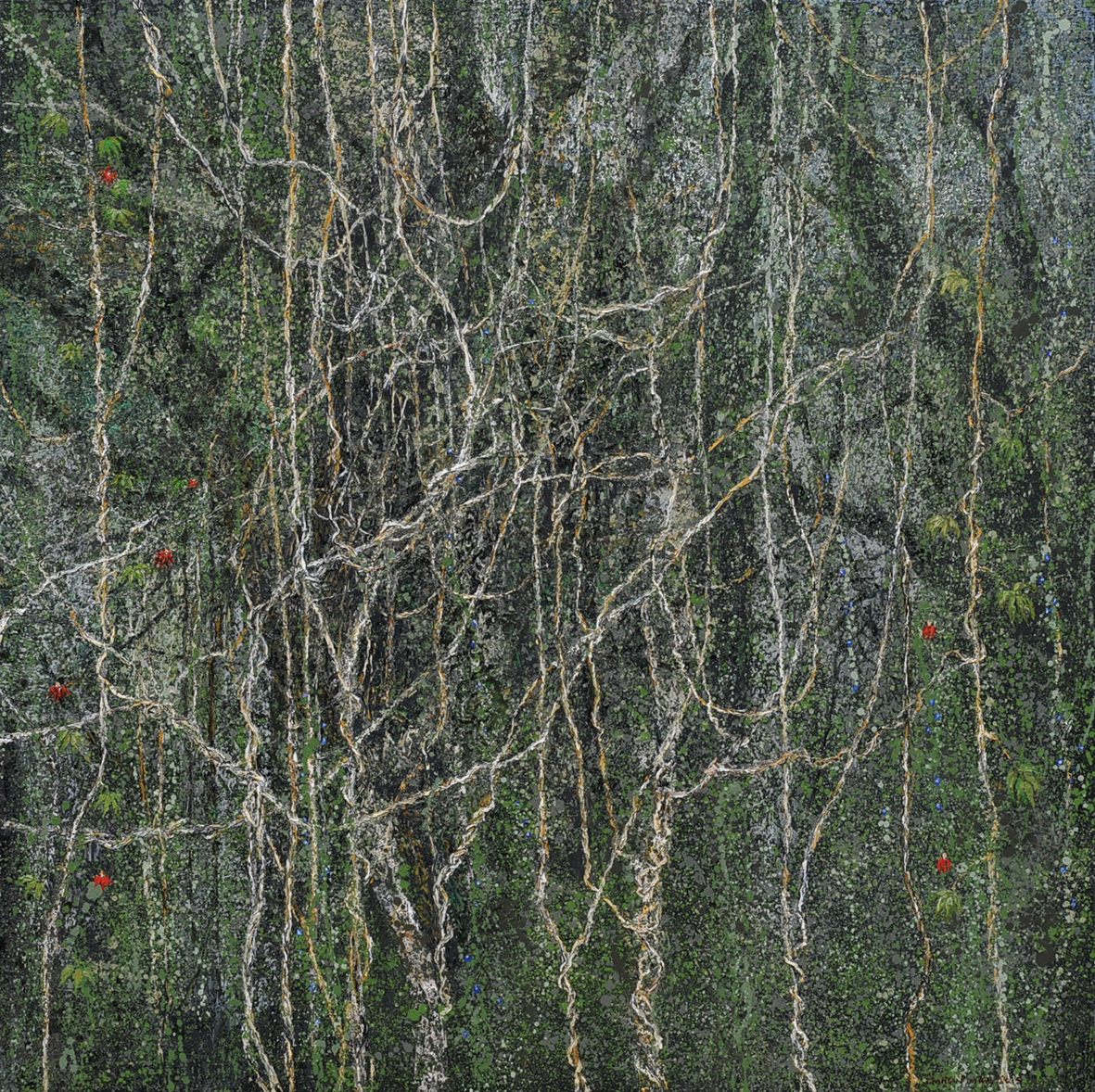 Wild Flowers 2015 Oil on linen 185x185cm