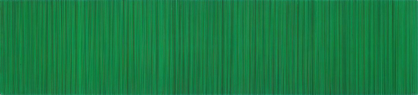 Who Likes Green?, 2017, Acrylic on epoxy resin, aluminum frame, 30x130x11cm