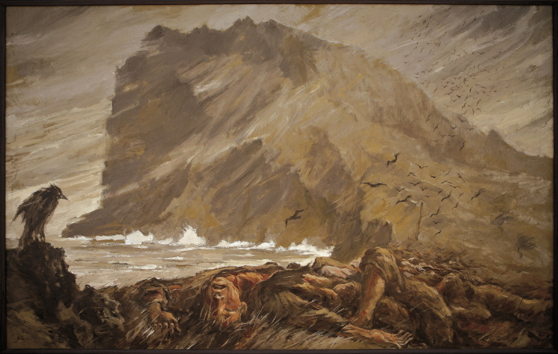 Raging Wind, 1991, Oil on canvas, 145x227cm
