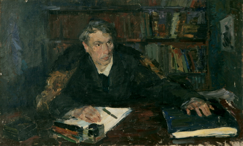 "Portrait of Boris L. Pasternak, the Author of ""Doctor Zhivago"", 1947, Oil on canvas, 70×114cm"