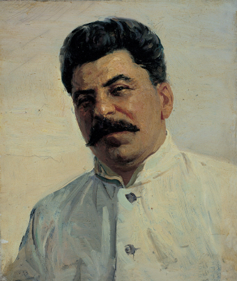 I. V. Stalin, 1949, Oil on canvas, 30×25.5cm