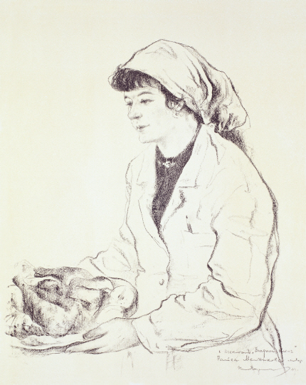 Portrait of the Cook Raisa Melnikova, 1979, Lithograph, 62×48cm