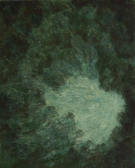 Wind Hole, 2016, Acrylic on canvas, 162×130cm