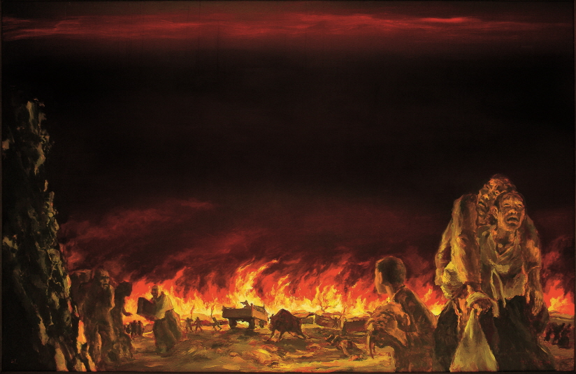 The Cry of the Sky, 1991, Acrylic on canvas, 162x250cm