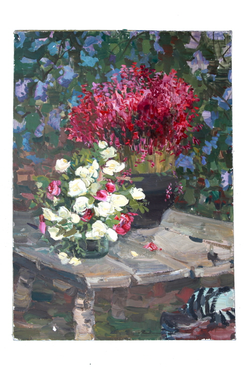 Flower, 1960, Oil on canvas panel, 70×50cm