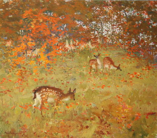Autumn, 1977, Oil on canvas, 80×90cm