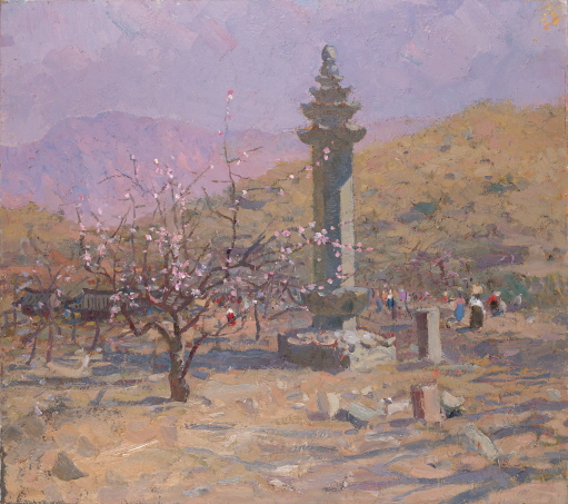 Monument of That Place, Dharani Seokdang, 1984, Oil on canvas, 80×90cm