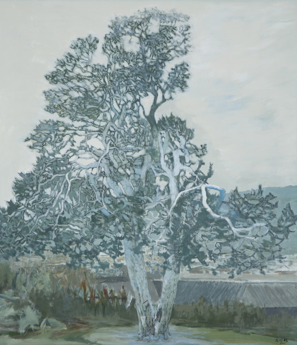 Lacebark Pine Tree in Icheon, 2016, Acrylic on canvas, 159x139cm