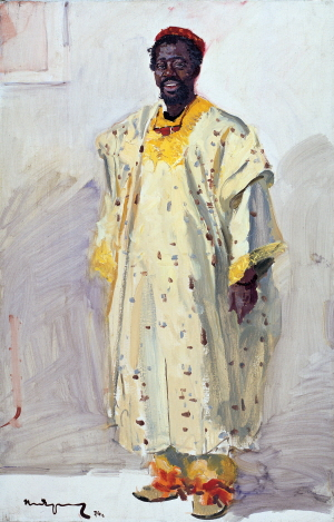 Togolese Student L. Delakena, 1974, Oil on canvas, 100×65cm