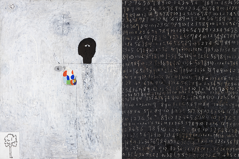 Untitled, 1996, Mixed media, 145x209cm
