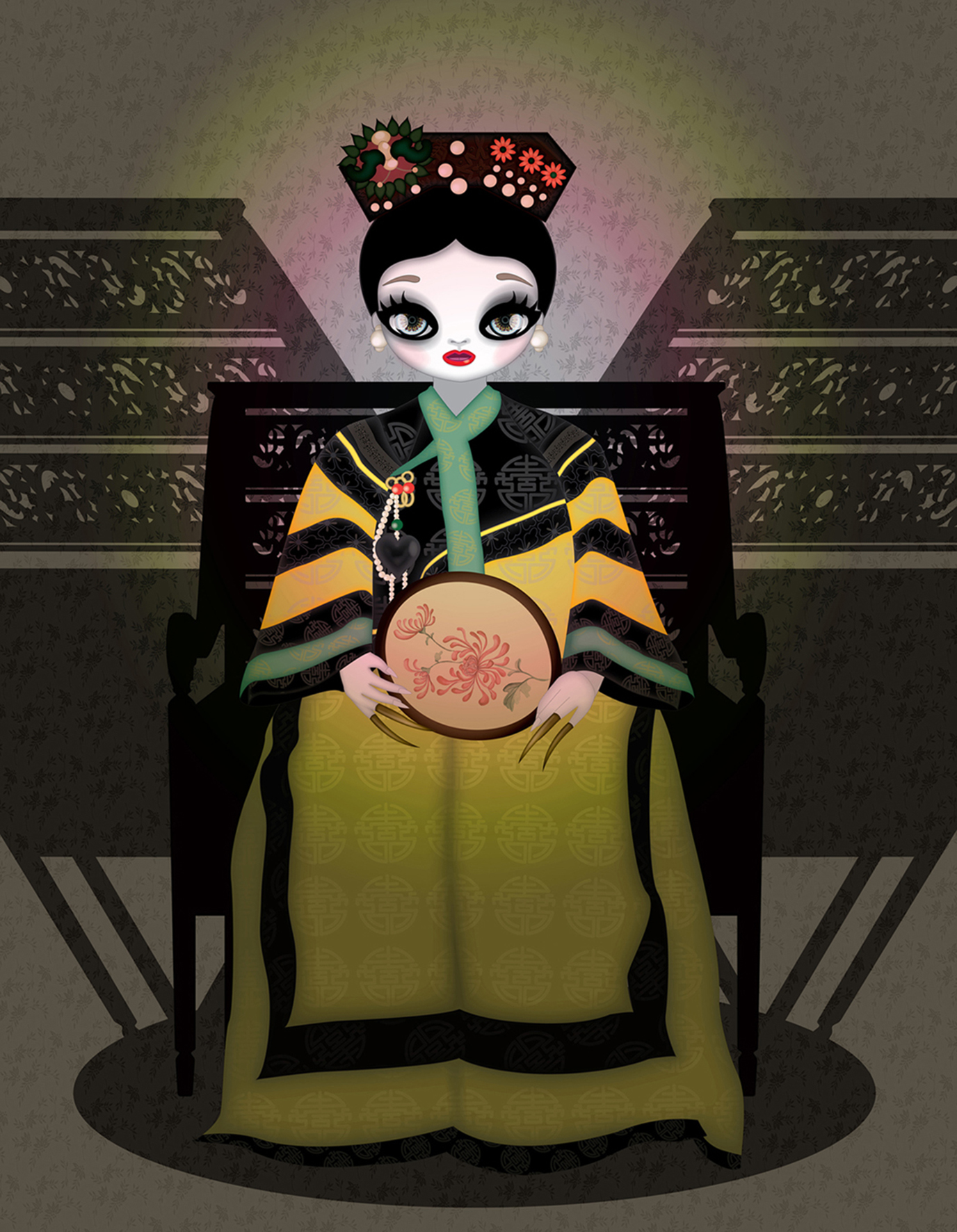 Empress Dowager Cixi, 2015, Ultra chrome ink printed on canvas, 180x138cm