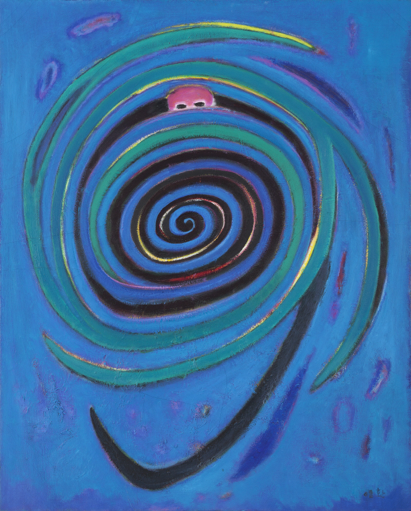 The Road of the Wind, a Self-Portrait, 2008, Oil on canvas, 91x72.5cm
