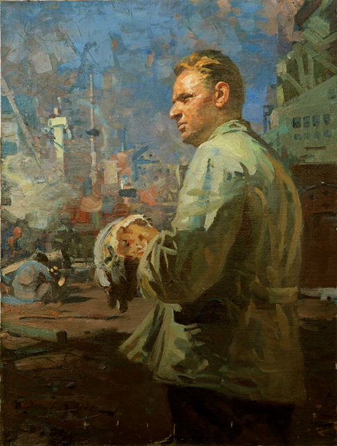 Portrait of S. Mashikovsky, the Worker of the Far Eastern Factory, 1961, Oil on canvas, 104.5×79.5cm