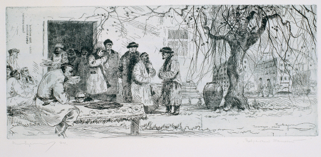 Winter of Tashkent, 1978, Etching, 21.3×50.2cm