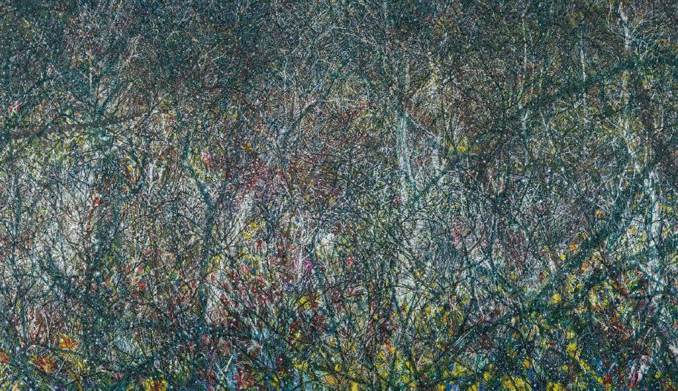 Forest10, 2016, Oil on canvas, 248x436cm