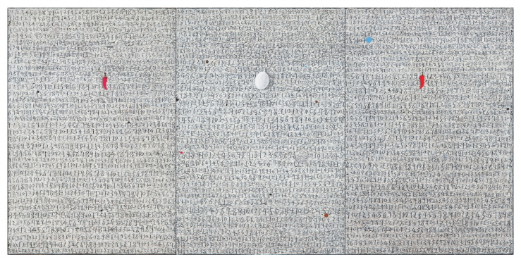 Untitled, 2014, Mixed media, 194x390cm