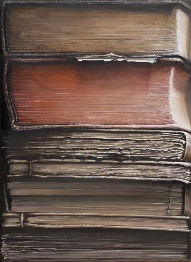 Hardbacks#5, 2015, Oil on canvas, 91x65cm