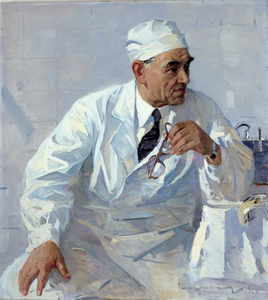 Portrait of the Surgeon Fyodor G. Uglov, 1970, Oil on canvas, 100×90cm