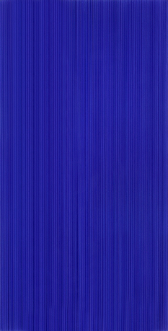 Who Likes Blue?, 2017, Acrylic on epoxy resin, aluminum frame, 122x62x7cm