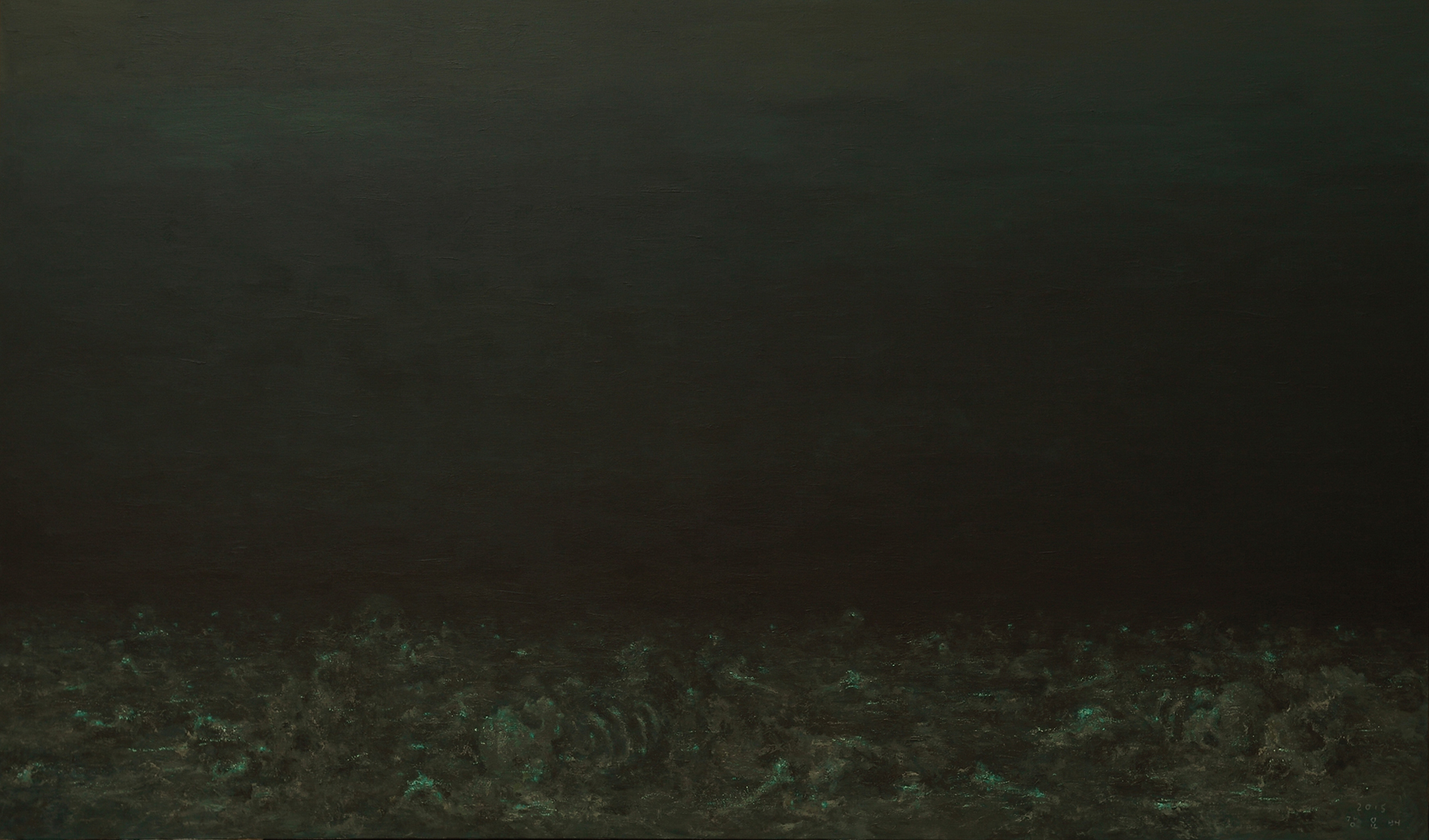 The Deep, Deep Ocean 2015 Acrylic on canvas 197x333.3cm