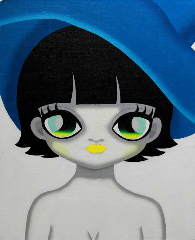 Mari Kim, Blue Hat, 2012, Acrylic on canvas, 65.1x53cm