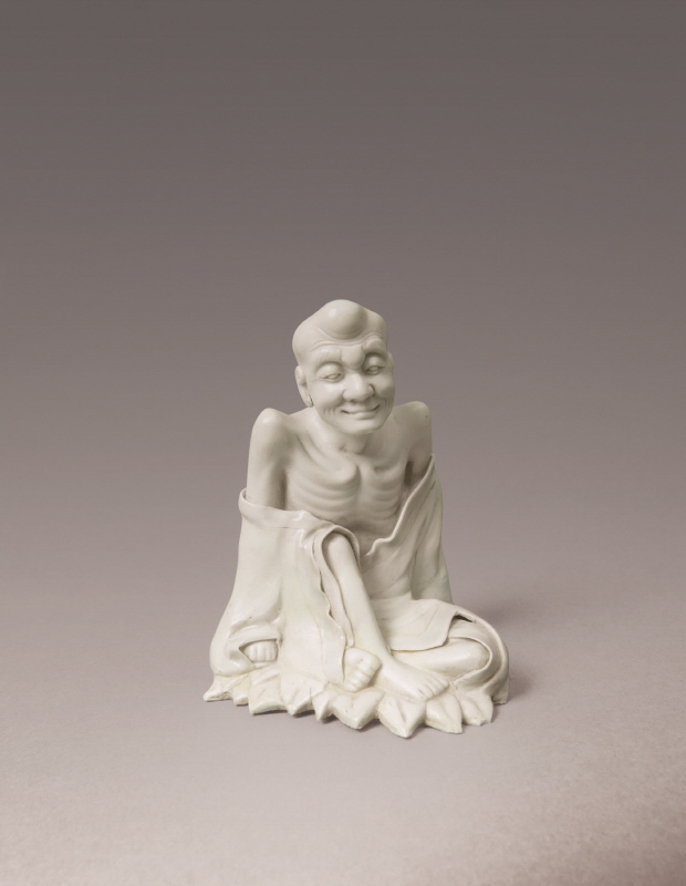 Celadon Figure of 'Arhat', Southern Song Dynasty and Yuan Dynasty, H14.3 W11.5
