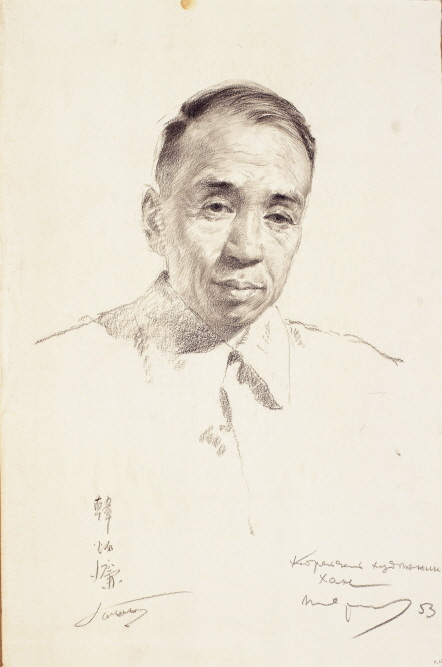 Artist Han Byung-ryum, 1953, Charcoal, pencil on paper, 38×25cm