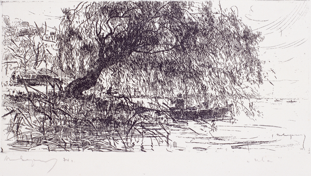 The Willow, 1970, Etching, 16×32cm