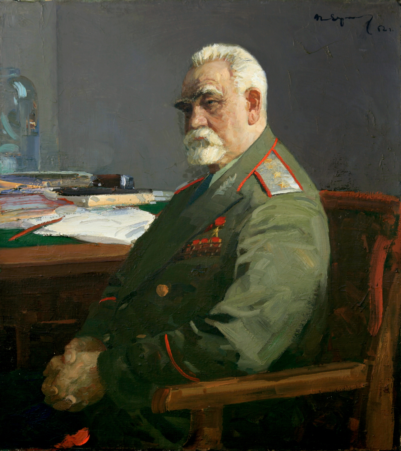 Portrait of E. N. Pavlovski, 1959, Oil on canvas, 100×90cm