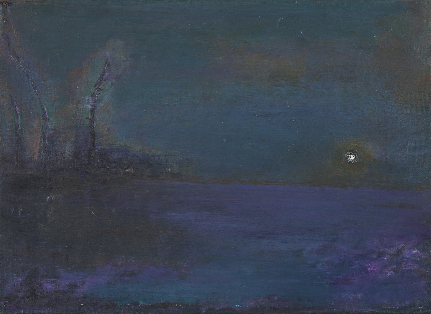 The Earth as Viewed from Outer Space, 1998, Oil on canvas, 24x33.5cm