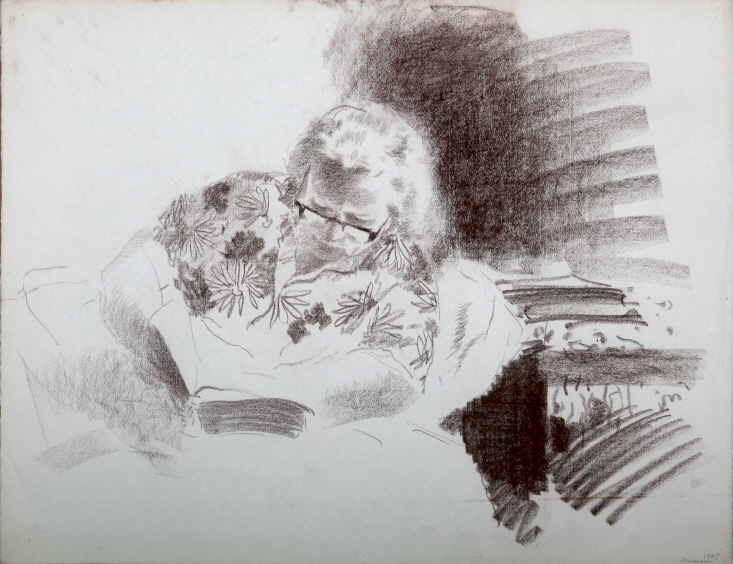 Sketch, 1975, Sepia on paper, 50×65cm