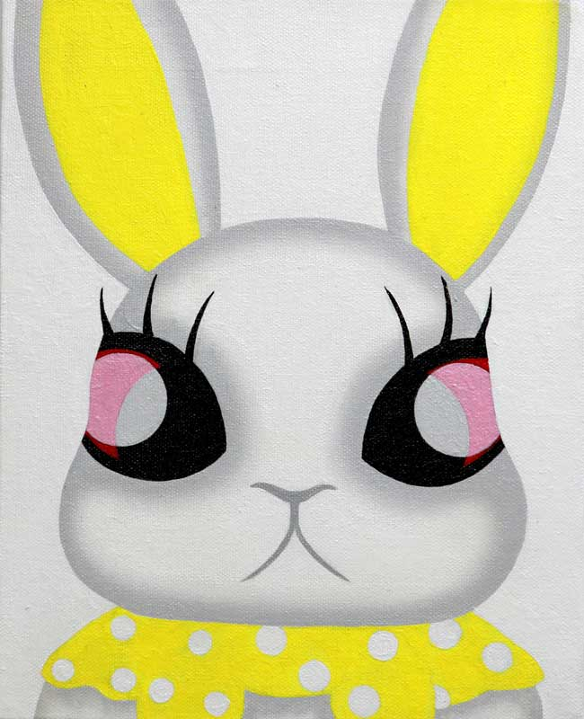 Mari Kim, Neo Rabbit 2, 2012, Acrylic on canvas, 27.3x22cm