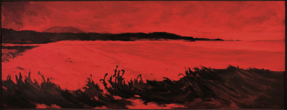 Red Sea, 1991, Acrylic on canvas, 97x250cm
