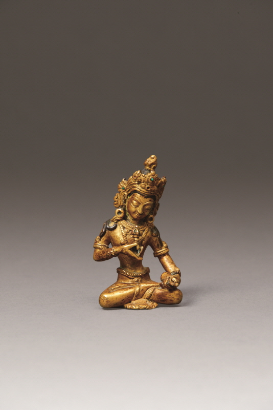 Gilt Bronze Statue of the Buddha, Qing Dynasty, H9.5 W5.5